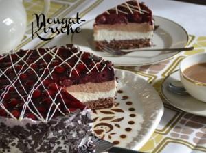 Nougat-Sauerkirsch-Torte