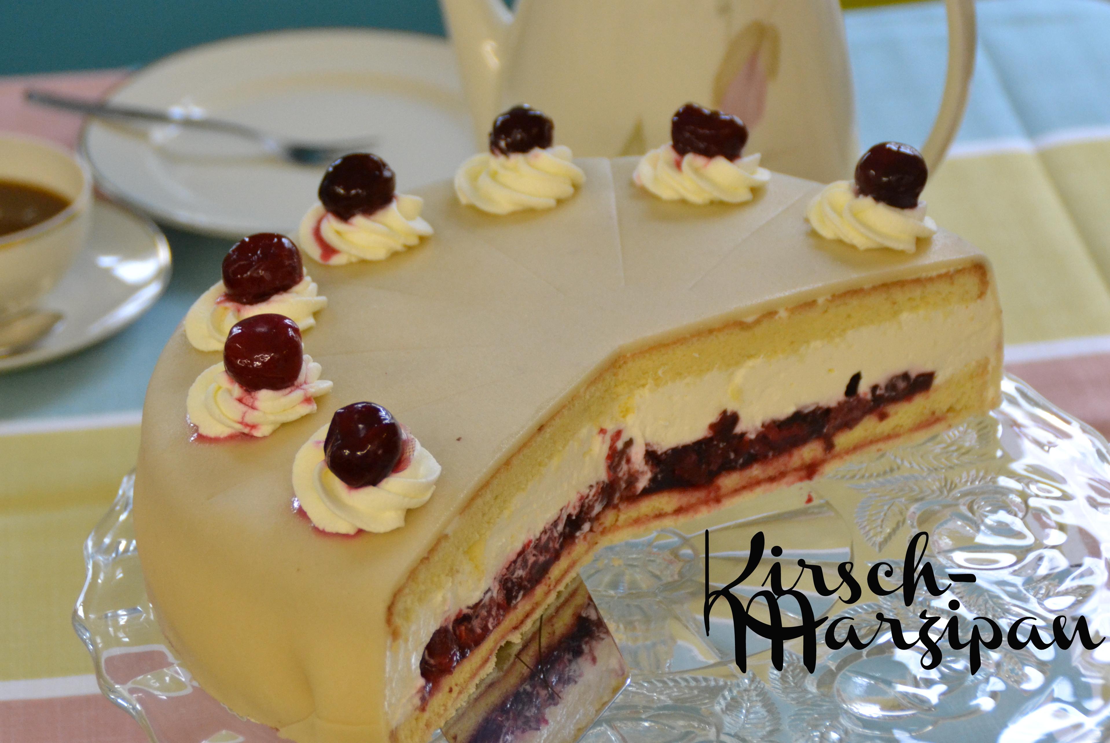Schoko Sahne Torte Mit Marzipandecke