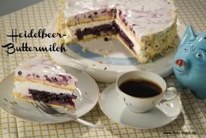 Heidelbeer-Buttermilch